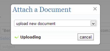 Uploading the document